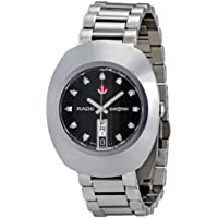 Rado Original Diastar Black Dial Diamond Stainless Steel Mens Watch (R12408614)