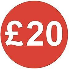 Audioprint Lot. 1000Lot de stickers Prix £2030mm rouge