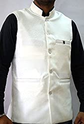 Nuvo Rise Export Men's Nehru Jacket_123451_Off White_L
