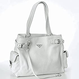 Prada BR2703 White Leather Handbag