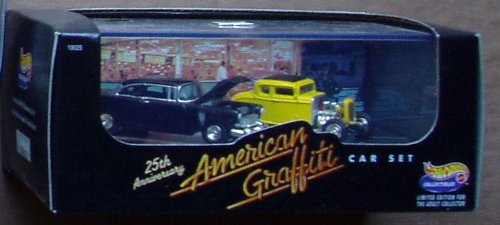Hot Wheels AMERICAN GRAFFITI 25th Anniversary Diecast Car Set (American Graffiti Diecast Cars compare prices)