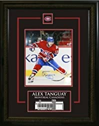 Alex Tanguay Signed 8X10 Etched Mat - Dark-V