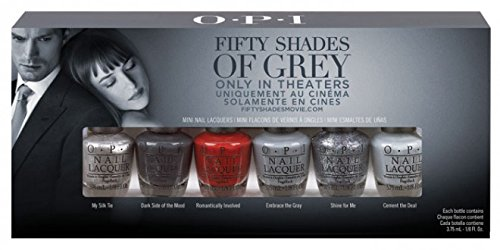 OPI Nail Polish - 50 SHADES OF GREY Mini Kit - Xmas 2014 - Limited Release Kit 6 x 3.75ml
