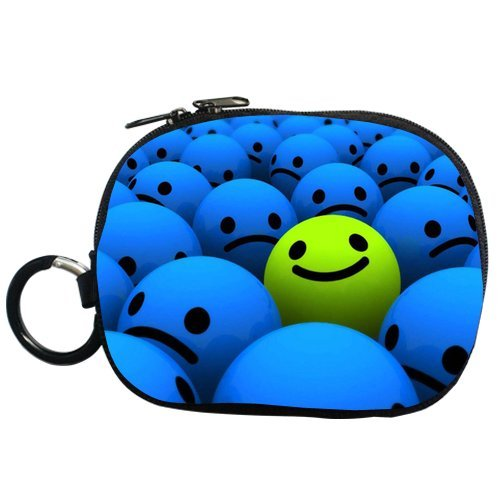 Generic Personalized 3D Happy And Sad Smile Face For Coin Purse (Two Side)