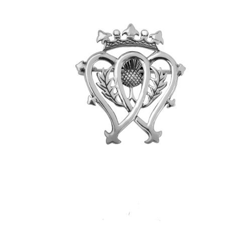 Scottish Luckenbooth Sterling Silver Brooch