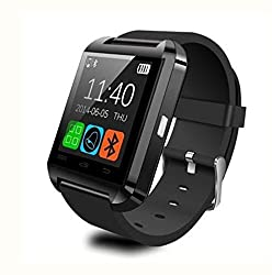 U8 Bluetooth Smart Watch Wrist Watch Fit for Smart Phones IOS Apple iPhone Android Samsung S2 S3 S4 S5 Note 2 Note 3 HTC Pedometer Stopwatch Black