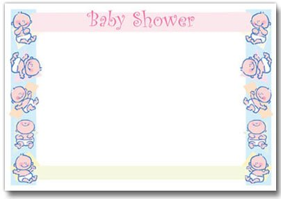 Cute Baby Shower Invite For Boy Or Girl - 12 Invites/13 Envelopes front-140569