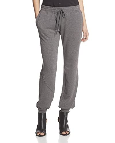 Haute Hippie Women's Drawstring Sweatpant  [Charcoal Heather Grey]
