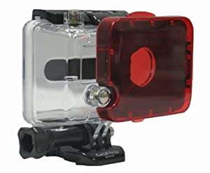 GoPro Accessory - Red Snap On Filter for the GoPro Dive Housing Camera Hero 1 and Hero 2