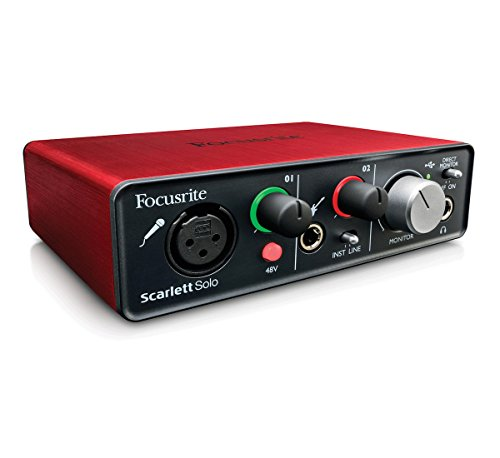 FOCUSRITE SCARLETT SOLO - Scheda Audio INTERFACCIA AUDIO USB 2 IN 2 OUT
