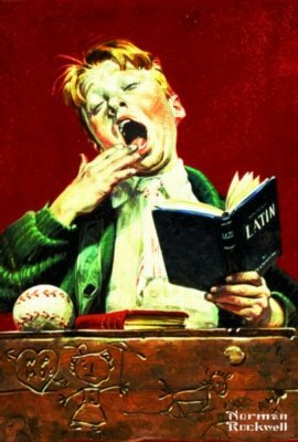 Norman Rockwell: The Sleepy Scholar - 500Pc Jigsaw Puzzle In A Tin By Serendipity - 1
