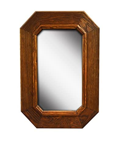 PTM Images Reclaimed Wood Framed Cornered Mirror, Natural