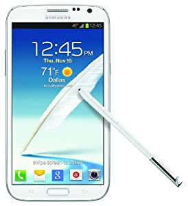 Samsung Galaxy Note II 4G Android Phone, White (AT&T)