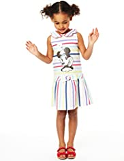 Limited Pure Cotton Minnie Mouse Sailor Striped Dress