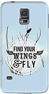 galaxy s5 back case cover ,Find Your Wings And Fly Designer galaxy s5 hard back case cover. Slim light weight polycarbonate case with [ 3 Years WARRANTY ] Protects from scratch and Bumps & Drops.