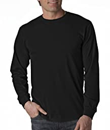 Fruit of the Loom 5.6 oz Cotton Long Sleeve T-Shirt - BLACK - Large