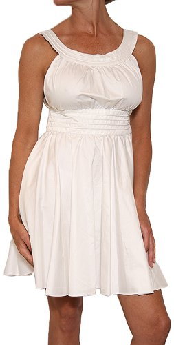 French Connection Women's Malandrino Dress in White Size 6