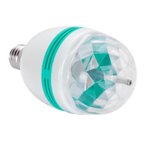 3W Crystal Ball RGB Auto Rotating LED Stage Effect Light E27 Bulb for Home Party Disco DJ Bar Club KTV
