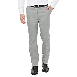 Zido Men'S Slim Fit Grey Formal Trouser_ZI15062_Grey