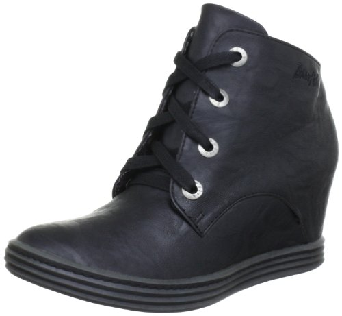 Blowfish Trick Wedges Lace Boot Boots Womens Black Schwarz (black PU BFP1) Size: 4 (37 EU)