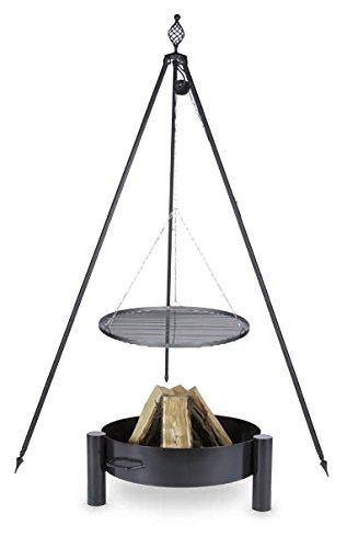Schwenkgrill mit Dreibein Royal, Rost 60 cm aus Rohstahl, Feuerschale #33 70 cm kaufen