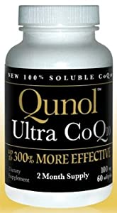Qunol Ultra CoQ10 100 mg 300% More Effective Water and Fat Soluble, 60 Softge
