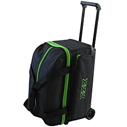 Tenth Frame Classic Double Roller Bowling Ball Bag (Lime)