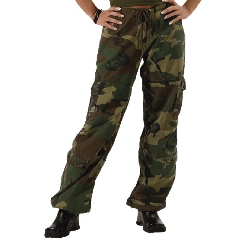 Womens Camouflage Vintage Paratrooper Fatigues SMALL