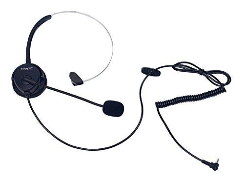 Coodio Telefono Cordless DECT Cuffia [mani libere] 2,5mm Monofonico Auricolare Con Microfono [Cancellazione del Rumore] Headset Per Panasonic Gigaset Telefoni Cordless DECT, Nero