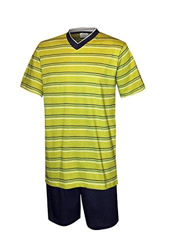 Herren Schlafanzug kurz Herren Pyjama kurz Herren Shorty Schlafanzug aus 100% Baumwolle Gr L/52