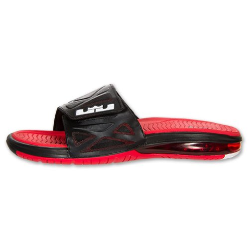 Nike Air Lebron Slide 2 Black - White - University Red Mens 9