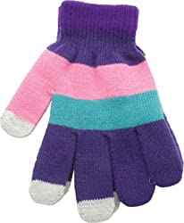True Gear MultiColored Touch Texting Gloves (Pink/Teal/Purple)