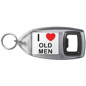 I Love Old Men - Botella plástica del anillo dominante del abrelatas