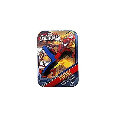 Spider-man Mini Travel Puzzle in Collectible Tin - 50 Pieces - 1