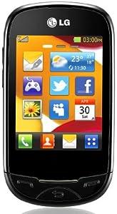 LG T500 Dakota Unlocked GSM Quadband Phone with 2MP Camera, Music Player, Bluetooth, Touchscreen, microSD and Web Browser - Black