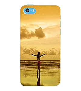 ColourCraft Amazing Sunset Design Back Case Cover for APPLE IPHONE 5C
