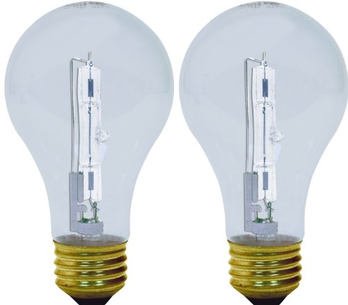 GE Lighting 62618 Reveal Clear 72-Watt (100-watt replacement) 1120-Lumen A19 Light Bulb with Medium Base, 2-Pack (Lightbulb 120v 100w compare prices)