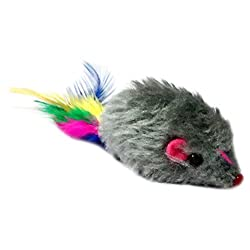 Cat Tails Mouse with Feathers