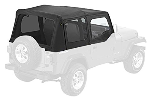 Pavement Ends by Bestop 51132-15 Black Denim Replay Replacement Soft Top Tinted Windows-With upper Door Skins-No frame hardware included- 1988-1995 Jeep Wrangler (Jeep Yj Top compare prices)