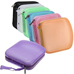 Jazooli 40 Pocket CD And DVD Storage Holder Protector Wallet Carry Case - Black