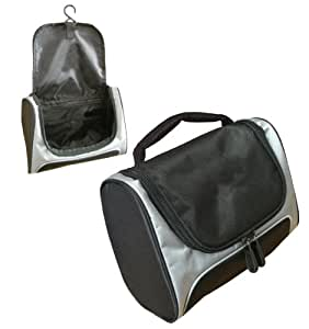Asbri Golf Tech Wash/Toiletry Bag - Black/Silver