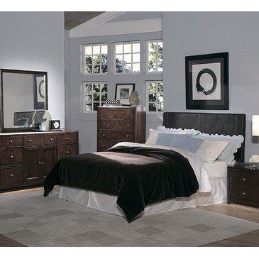 Homelegance Copley 4 Piece Bedroom Set w/ Dark Brown Bi-Cast Vinyl