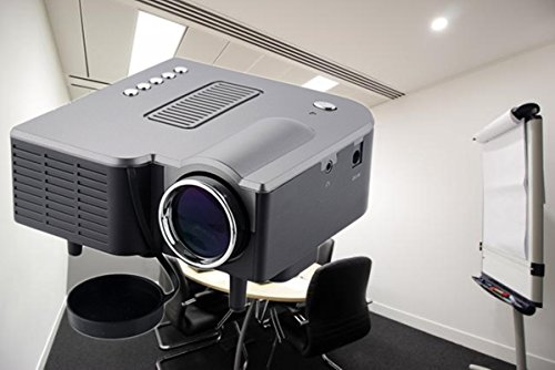 MSE Small Potable Mini-Multimedia-LCD-Image-System-LED-Projector-with-SD-USB-AV-VGA-HDMI-Port Tripod Compatible... - B072BN9371