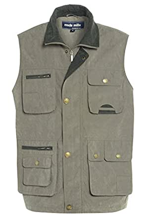 Premium Quality Mens Multi Pocket Vest Waistcoat Jacket Top For Fishing Hunting Hiking Safari Gilet Waistcoat In 4 Colours Size M to 3XL (Medium, Light Green)