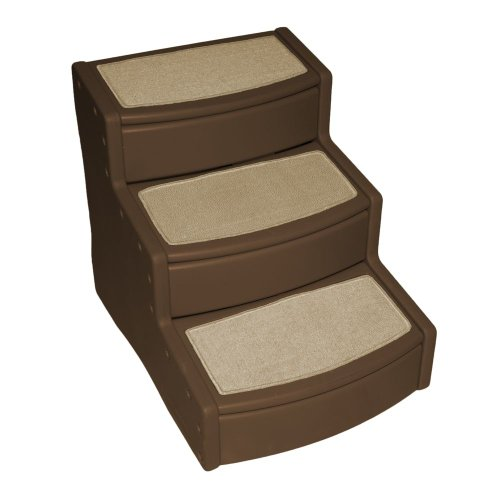 Pet Gear Easy Step III Extra Wide Pet Stairs, 3-step/for cats and dogs up to 200-pounds, Chocolate