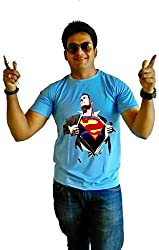 LetsFlaunt Super Human T-shirt Blue Men Dry-Fit-Small Nw