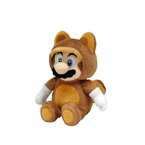 Little Buddy Official Super Mario Plush Raccoon Tanooki Mario, 9-Inch