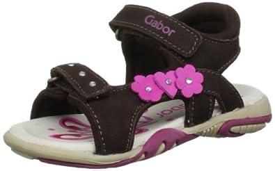 Gabor kids Girls Gina Sandals Brown 8.5 UK