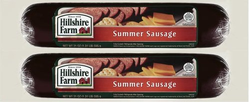 Hillshire Farm Summer Sausage - 21 Oz (1.3 Lb) Package, (Pack Of 2)