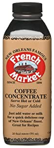 French Market Coffee Concentrate, 20-Ounce Bottles (Pack of 3)